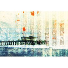 Santa Monica Pier by Parvez Taj Graphic Art on Canvas