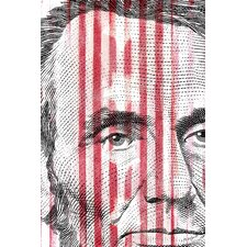 Abe Lincoln Graphic Art on Canvas