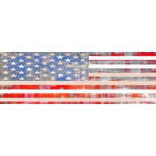 USA Flag Graphic Art on Canvas