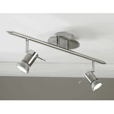 Genoa Linear Head 2 Light Ceiling Spotlight