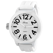 "Men""s Jaxon Thick Bold White Band Watch"