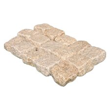 "Tumbled Granite 4"" x 4"" x 2"" Cobblestones in Giallo Fantasia"