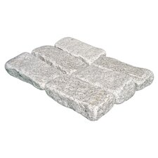 "Tumbled Granite 4"" x 8"" x 2"" Cobblestones in Bianco Catalina"