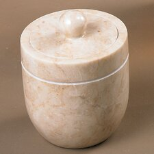 Champagne Marble Cotton Ball Holder