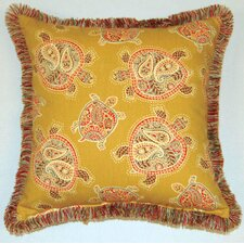 Tranquil Turtles Fringed Pillow (Set of 2)