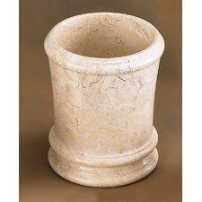 Champagne Marble Pedestal Waste Basket