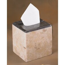 Champagne Marble Inverary Banded Tissue Box Holder (Set of 2)
