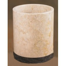 Champagne Marble Inverary Banded Waste Basket