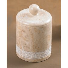Champagne Marble Spa Hand Carved Cotton Ball Holder