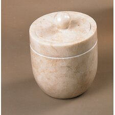 Champagne Marble Notch Cotton Ball Holder