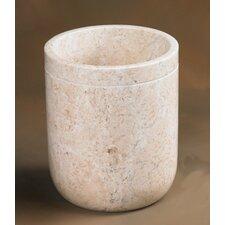 Caramel Marble Notch Waste Basket (Set of 2)
