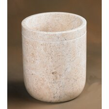 Champagne Marble Notch Waste Basket