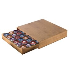 Bamboo Single Serve Deluxe Heavy Duty Coffee Pod Drawer