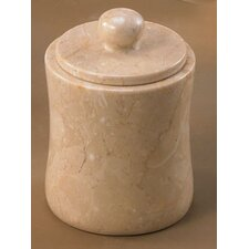 Champagne Marble Fenway Cotton Ball Holder