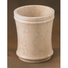 Champagne Marble Fluted Waste Basket