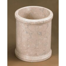 Champagne Marble Column Waste Basket
