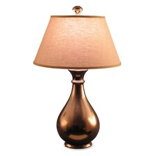 "Metallic 31"" H Table Lamp with Empire Shade"
