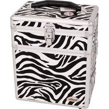 Zebra Textured Printing Jewelry and Makeup Case