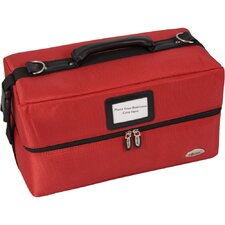 <strong>Sunrise Cases</strong> Soft-Sided 2-Tiered Accordion Professional Makeup Case