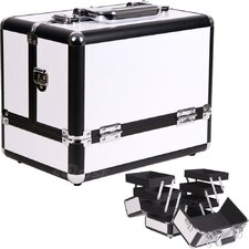 Accordion Trays Cosmetic Makeup Train Case