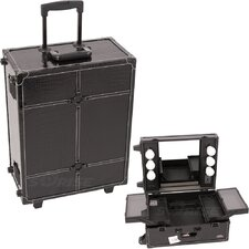 <strong>Sunrise Cases</strong> Professional Rolling Studio Makeup Train Case