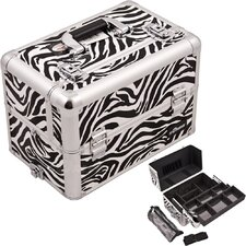 <strong>Sunrise Cases</strong> Professional Aluminum Cosmetic Makeup Case