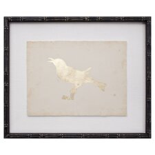 Gold Leaf Bird VIII Framed Graphic Art