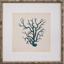 Mini Turquoise Coral VIII Framed Graphic Art