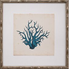 Mini Turquoise Coral VII Framed Graphic Art