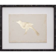 Gold Leaf Bird I Framed Graphic Art