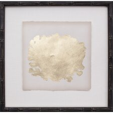 Mini Gold Leaf Coral III Framed Graphic Art