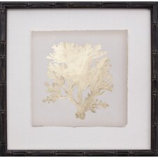 Mini Gold Leaf IV Framed Graphic Art