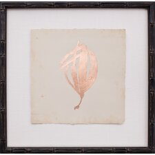 Copper Leaf Seaweed I Framed Graphic Art