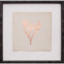 Copper Leaf Seaweed II Framed Graphic Art
