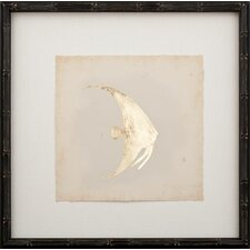 Gold Leaf Fish on Archival Paper Framed Graphic Art