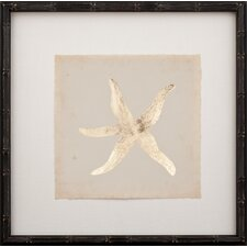 Gold Leaf Starfish I Framed Graphic Art