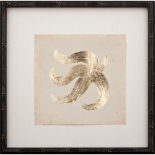 Gold Leaf Starfish II Framed Graphic Art