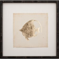 <strong>Mirror Image Home</strong> Gold Leaf Fish IV Art