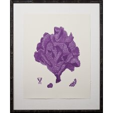 Purple Coral Giclee IV Framed Graphic Art