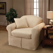 <strong>Madison Home</strong> Microsuede Two Piece Chair Slipcover