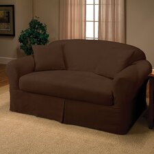 <strong>Madison Home</strong> Microsuede Two Piece Loveseat Slipcover