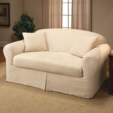 Microsuede Two Piece Loveseat Slipcover