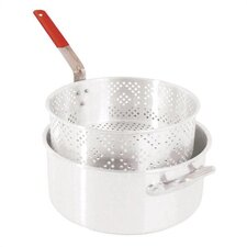 Aluminum 10.5 Quart Pot and Basket