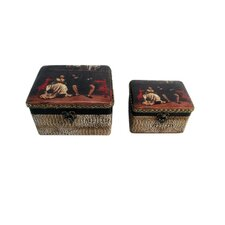 <strong>Keystone Intertrade Inc.</strong> Decorative Jewelry Box with King and Queen Design (Set of 2)