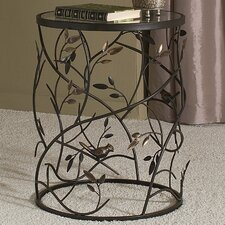 Large Barrel Table with Leaves and Removable Glass Top