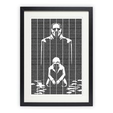 Frankenstein Framed Graphic Art