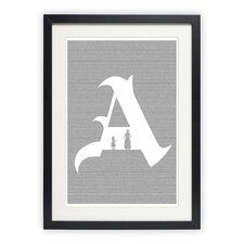 <strong>Postertext</strong> The Scarlet Letter Art Print