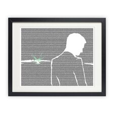 <strong>Postertext</strong> The Great Gatsby - Gatsby and the Green Light Art Print