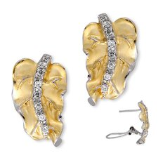 Mate Vermeil Plated Leaf Shape Earrings