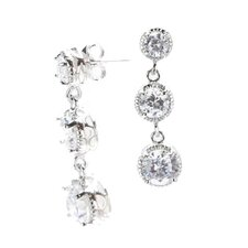 Cubic Zirconia Graduated Earrings